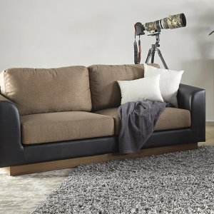 Crema Fabric Sofa with Removable Covers
