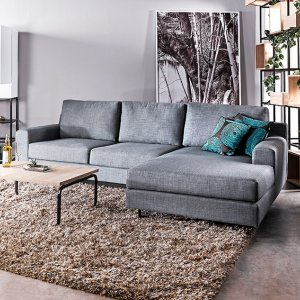 Ross L-Shape Fabric Sofa