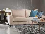 Ross Fabric Sofa with Removable Covers