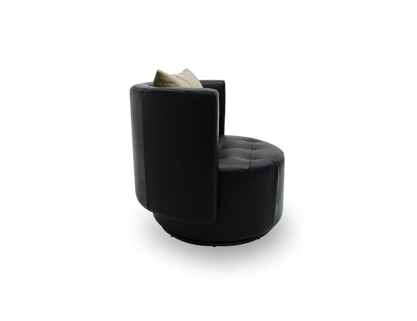Club Swivel Faux Leather Armchair