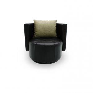 Club Swivel Leather Armchair