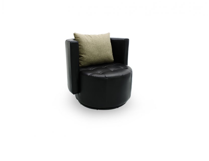 Club Swivel Leather Armchair