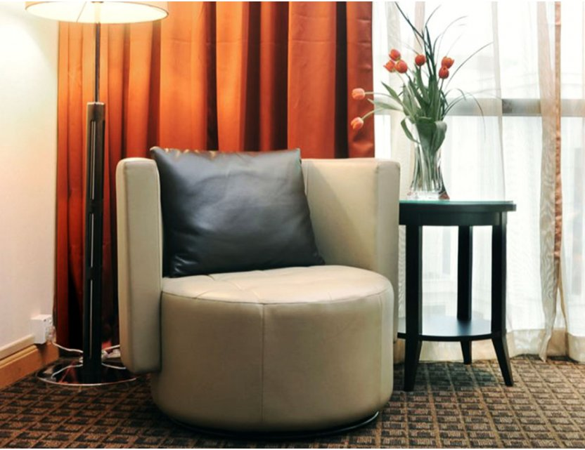 Club Swivel Faux Leather Armchair