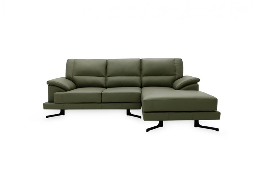 Doze L-Shape Leather Sofa with High Backrest