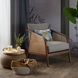 Nash Rattan Fabric Armchair