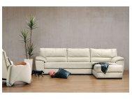 Ola L-Shape Leather Sofa