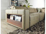 Pac Motorised Recliner Leather L-Shape Sofa with USB Ports and Storage Box