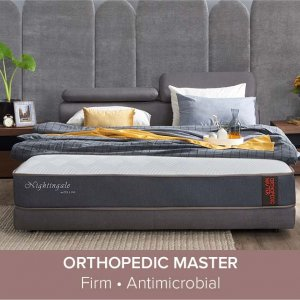 Apollo Bedframe with Storage and Adjustable Headboard and Orthopedic Master Mattress 10