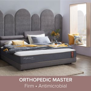 Apollo Bedframe with Storage and Adjustable Headboard with Orthopedic Master Mattress
