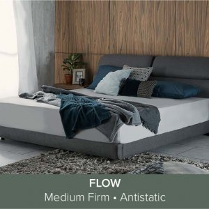 """Apollo Bedframe with Storage and Adjustable Headboard and Flow Mattress 13"""""""