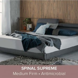 Apollo Bedframe with Storage and Adjustable Headboard and Spinal Supreme Mattress 12