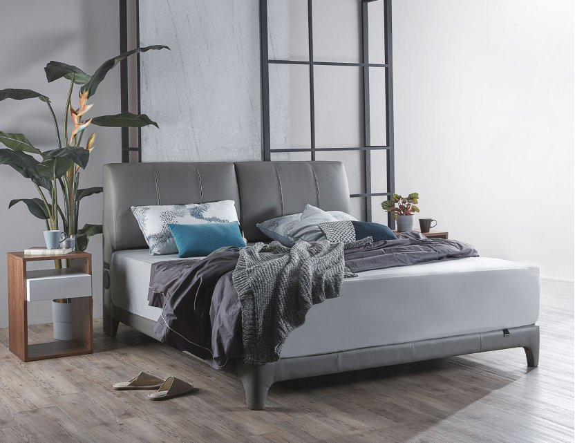 Gaze Bedframe with USB Ports and Bluetooth Speakers