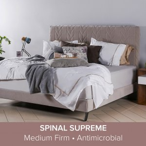 Ribb Bedframe in FabricGard with Spinal Supreme Mattress 12