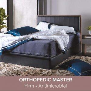 "Trinity Bedframe with Storage Divan and Orthopedic Master Mattress 10"""