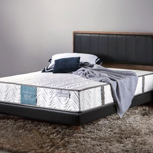 Trinity Bedframe with Synthetic Leather Panel Headboard