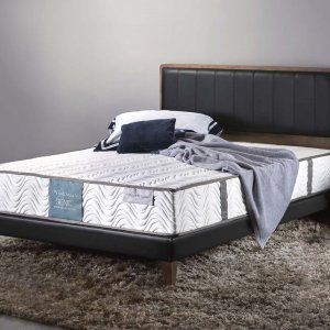 Trinity Bedframe with Faux Leather Panel Headboard