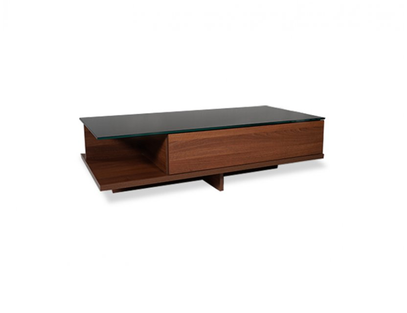 Exteso Glass Top Coffee Table Rectangle