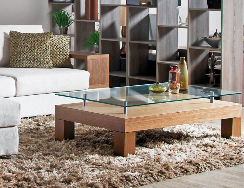 Max Glass Top Coffee Table Rectangle