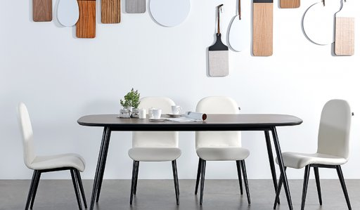 Dansk Dining Table 1200mm With 4 Chairs