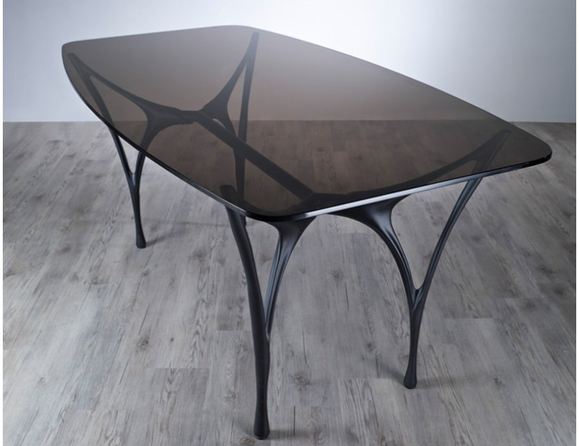 Essenza Glass Dining Table with 4 Charles Dining Chairs