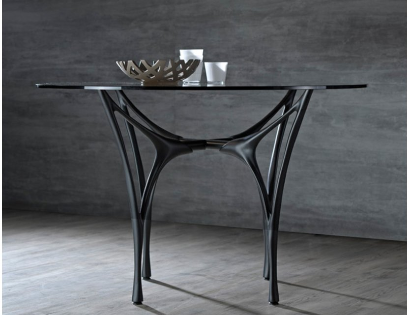 Essenza Glass Round Dining Table