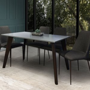 Kay Grey Quartz Top Dining Table  with 4 Henry Dining Chairs