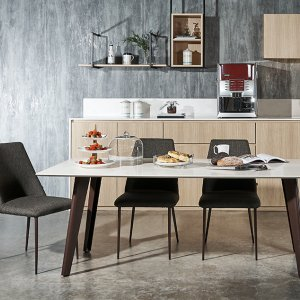 Kay Quartz Top Dining Table (2M) with 4 Henry Chairs