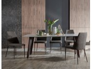 Kay Quartz Top Dining Table (2M) with Henry Chairs