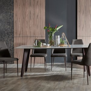 Kay Quartz Top Dining Table 2M with Henry Chairs