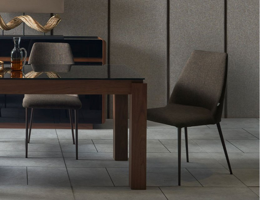 Max Glass Dining Table with 2 Henry Dining Chairs + 1 Max Wood Bench