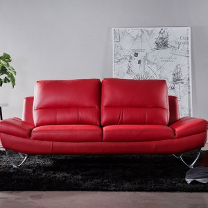Blox Curve Sloped Leather Sofa