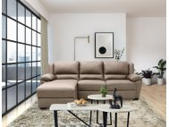 Delaere Motorised Leather Recliner Sofa with High Backrest