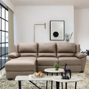 Delaere Motorised Leather Recliner Sofa with Touch Sensors and High Backrest