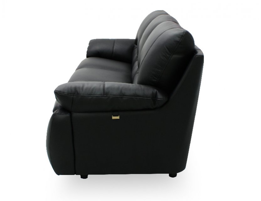 Dove Half-Leather Sofa with High Backrest