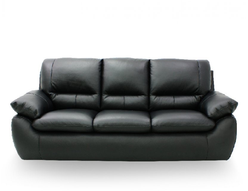 Dove 3 Seater Half-Leather Sofa