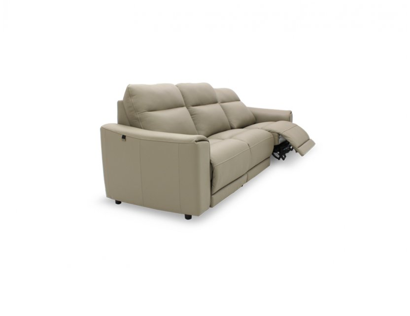Grande 3 Seater Leather Motorised Recliner Sofa (Large)