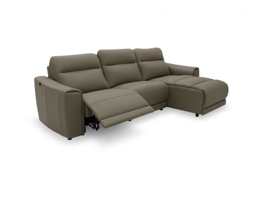 Grande L-shape 3 Seater Motorised Recliner Sofa