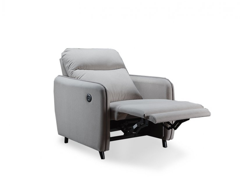 Homer Motorised Fabric Recliner Sofa with USB Ports and High Backrest