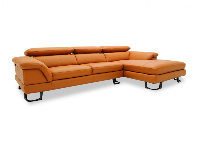 Korus L-Shape Leather Sofa with Adjustable Headrest (Home Package, top up)
