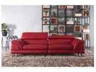 Korus 3 Seater Leather Sofa With Adjustable Headrest