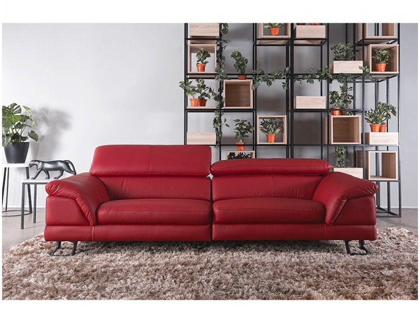 Korus 3 Seater Leather Sofa With