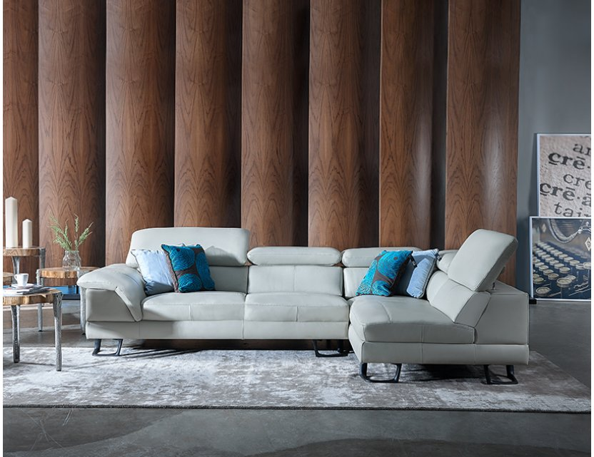 Korus Sectional Leather Sofa