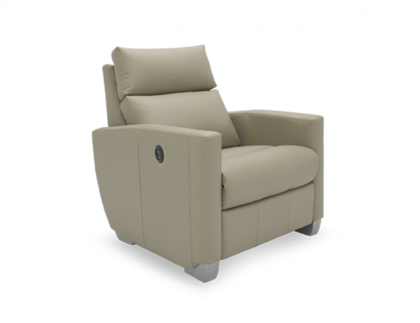 Mila 1 Seater Leather Motorised Recliner Armchair (Leather)