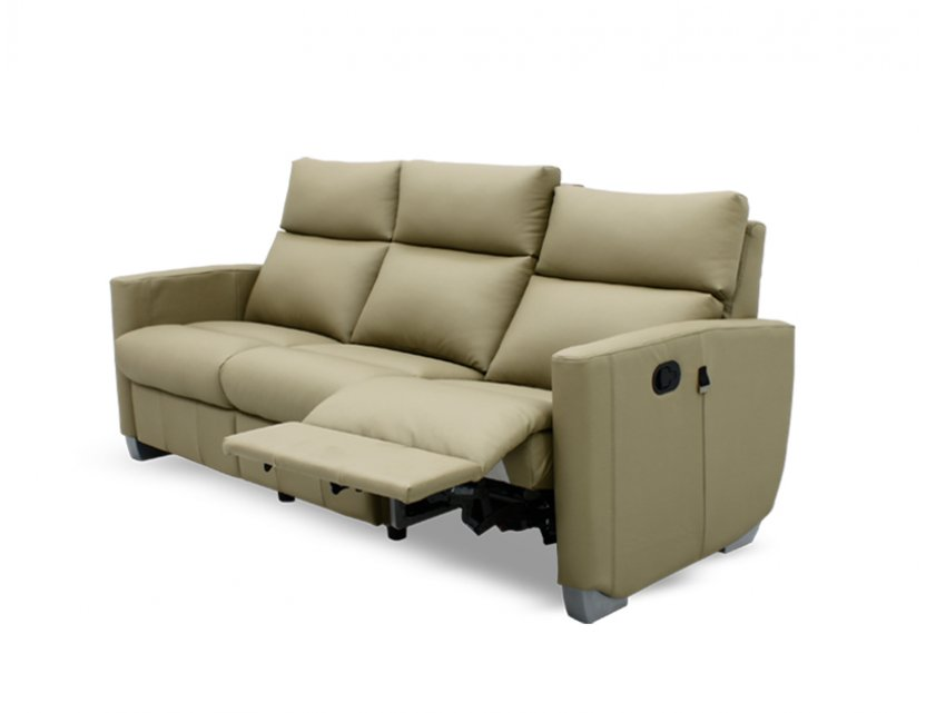 Mila 3 Seater Leather Manual Recliner Sofa