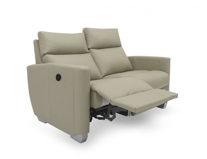 Mila 2 Seater Leather Motorised Recliner Sofa