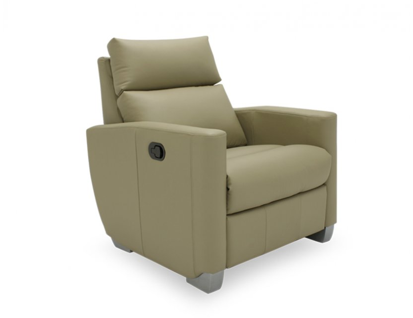Mila 1 Seater Leather Manual Recliner Sofa