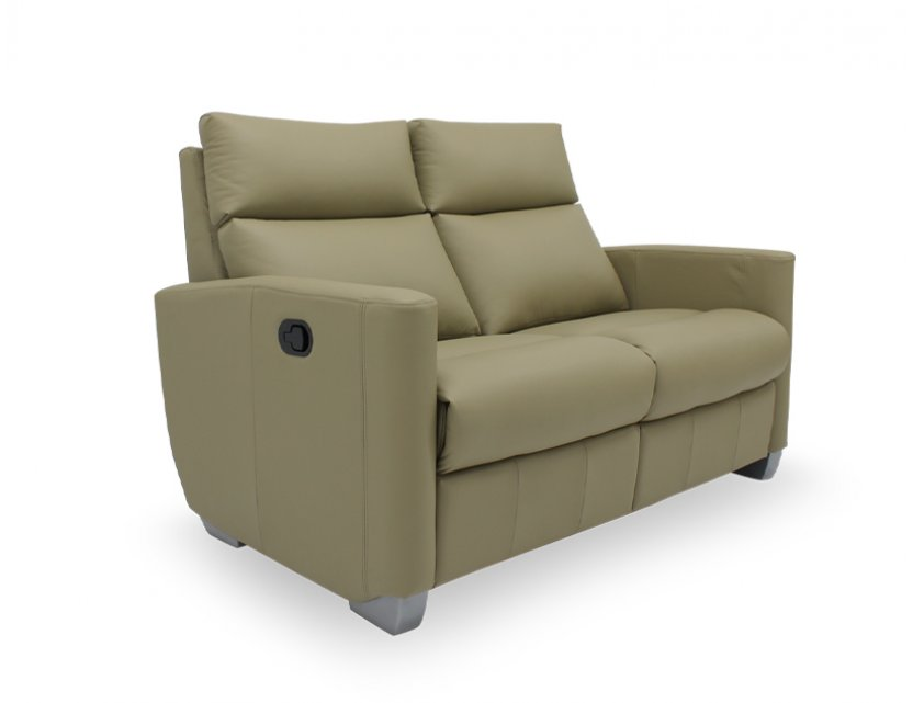 Mila 2 Seater Leather Manual Recliner Sofa
