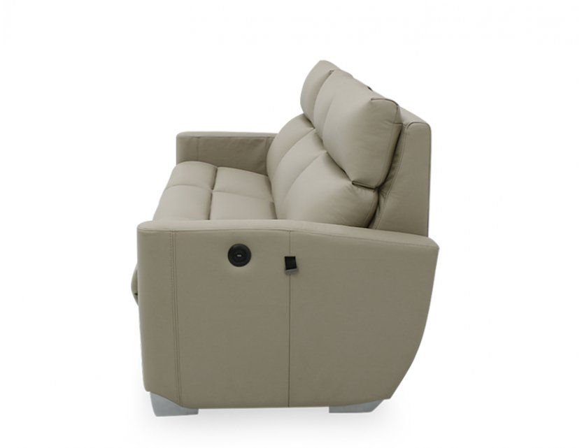 Mila Motorised Recliner Leather Sofa with USB Ports and High Backrest (Home Package, top up)