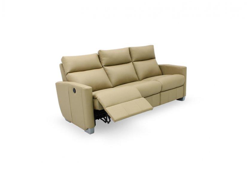 Mila 3 Seater Leather Motorised Recliner Sofa