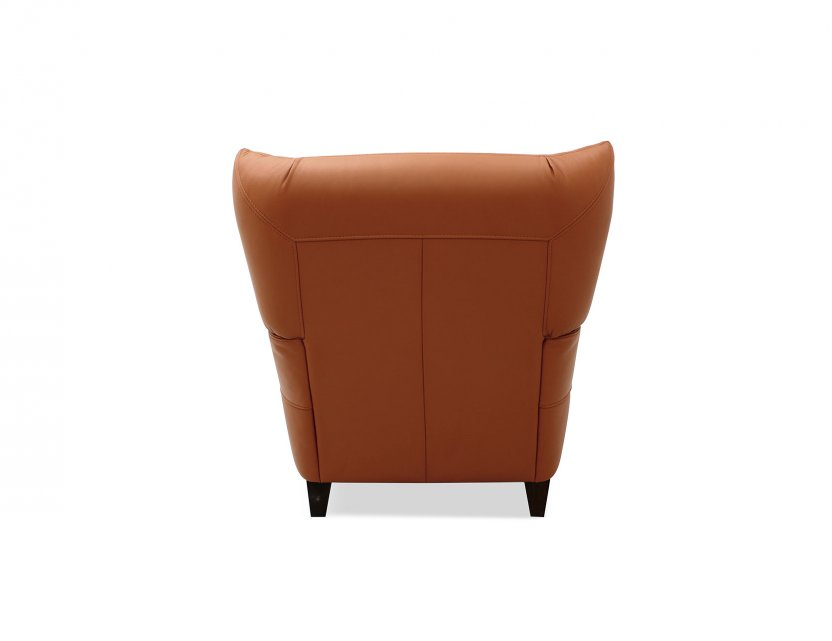 Stoker Leather Armchair with High Wing Backrest